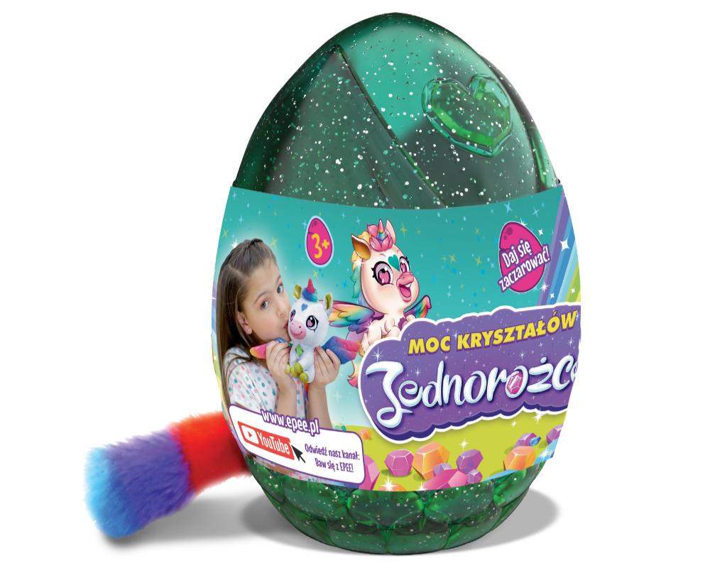 Jednorożce – Moc Kryształów – Plusz w jajku 16 cm - moc-krysztalow-jednorozce-opakowanie-ep04058