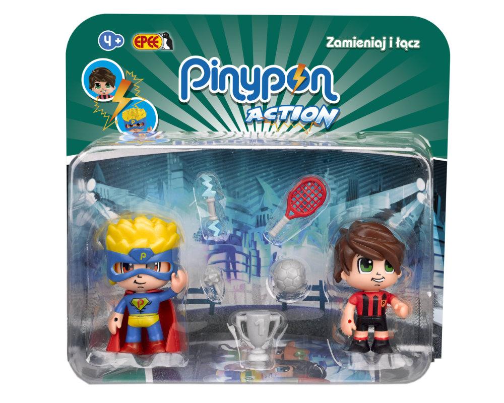 Pinypon Action – 2-pack figurek 7 cm, 2 ass. - pinypon-action-2pack-pilkarz-superbohater-opak-fpp16056