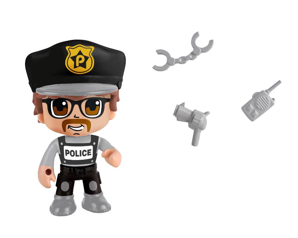 Pinypon Action – 2-pack figurek 7 cm, 2 ass. - pinypon-action-2pack-policjant-fpp16056