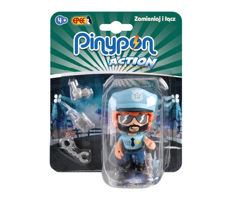 Pinypon Action – Figurka 7 cm z akcesoriami, 5 ass. - pinypon-action-figurka-policjant-fpp16055