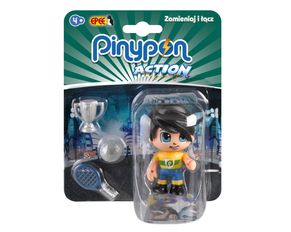 Pinypon Action – Figurka 7 cm z akcesoriami, 5 ass. - pinypon-action-figurka-sportowiec-fpp16055