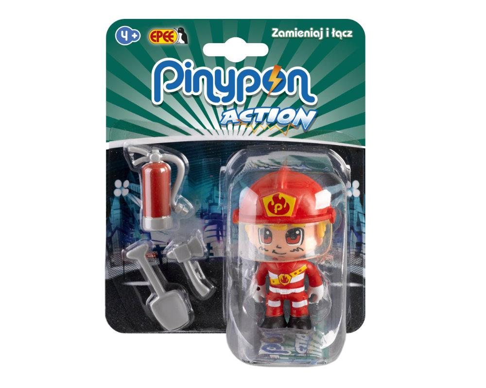 Pinypon Action – Figurka 7 cm z akcesoriami, 5 ass. - pinypon-action-figurka-strazak-fpp16055