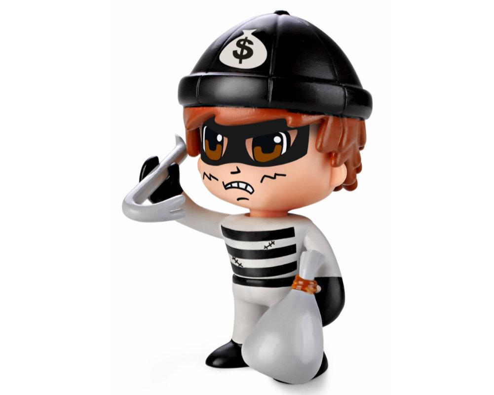 Pinypon Action – Figurka 7 cm z akcesoriami, 5 ass. - pinypon-action-figurka-zlodziej-bez-opak-fpp16055