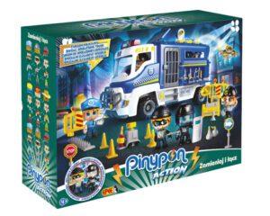 """Pinypon Action – Zestaw """"Furgon policyjny"""" z 2 figurkami i akcesoriami"""