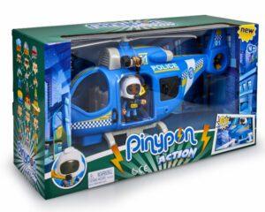 """Pinypon Action – Zestaw """"Helikopter policyjny"""" z figurką i akcesoriami"""