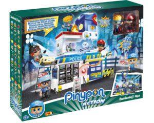 """Pinypon Action – Zestaw """"Komisariat"""" z 2 figurkami 7 cm i akcesoriami"""
