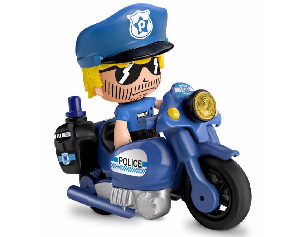 Pinypon Action – Pojazd z figurką 7 cm i akcesoriami, 2 ass. - pinypon-action-zestaw-pojazdow-policja-bez-opak-fpp16057