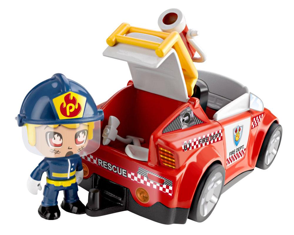 Pinypon Action – Pojazd z figurką 7 cm i akcesoriami, 2 ass. - pinypon-action-zestaw-pojazdow-straz-bez-opak-fpp16057