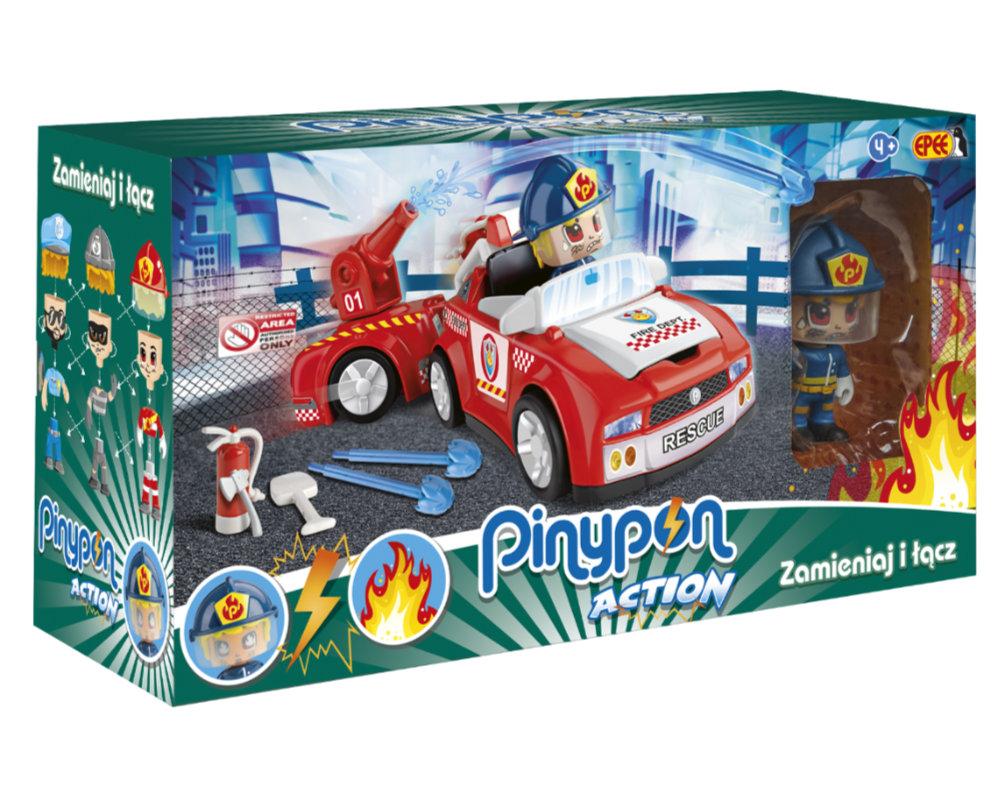 Pinypon Action – Pojazd z figurką 7 cm i akcesoriami, 2 ass. - pinypon-action-zestaw-pojazdow-straz-opak-fpp16057