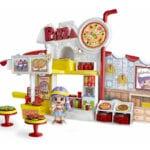 """Pinypon City – Zestaw """"Pizzeria"""" z laleczką 8 cm i akcesoriami - pinypon-city-pizzeria-bez-opak-fpp14755 - miniaturka"""