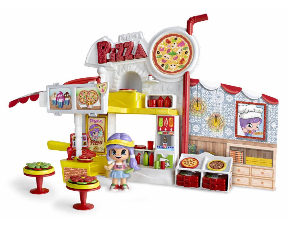 """Pinypon City – Zestaw """"Pizzeria"""" z laleczką 8 cm i akcesoriami - pinypon-city-pizzeria-bez-opak-fpp14755"""