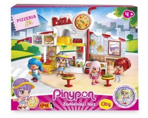 """Pinypon City – Zestaw """"Pizzeria"""" z laleczką 8 cm i akcesoriami"""