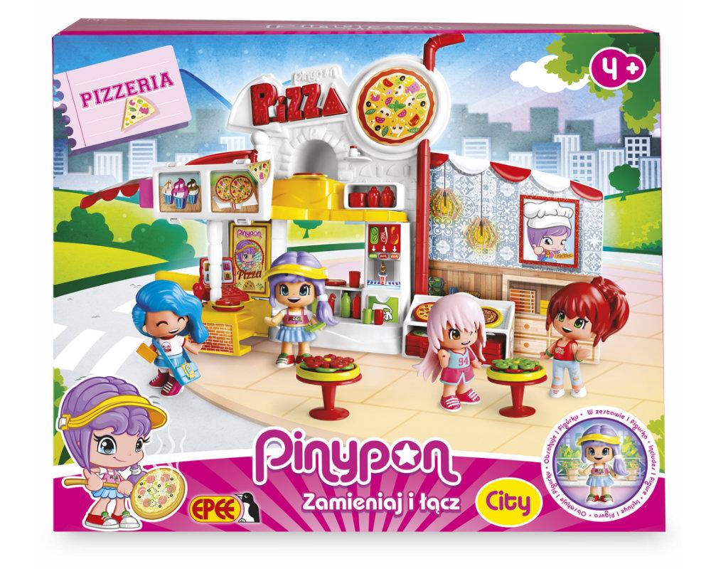 """Pinypon City – Zestaw """"Pizzeria"""" z laleczką 8 cm i akcesoriami - pinypon-city-pizzeria-opak-fpp14755"""