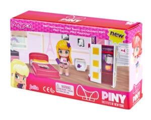 """Pinypon City – Zestaw """"Pokoik"""" z laleczką 8 cm i akcesoriami, 2 ass."""