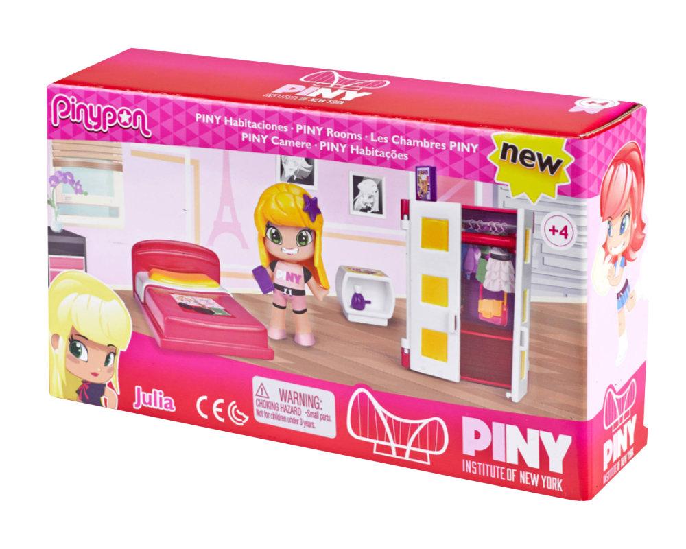 """Pinypon City – Zestaw """"Pokoik"""" z laleczką 8 cm i akcesoriami, 2 ass. - pinypon-city-pokoik-opak2-fpp14155"""