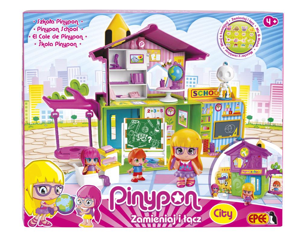 """Pinypon City – Zestaw """"Szkoła"""" z 3 laleczkami i akcesoriami - pinypon-city-szkola-opak-fpp14102"""